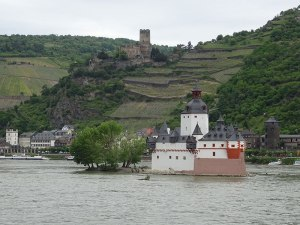 An idyllic view of the Rhine