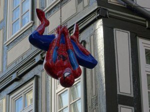 Spiderman in Marburg.