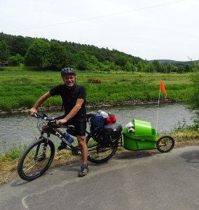 Everybody likes to bike tour, even dogs!