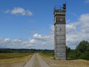 East German guard tower by the Elbe River