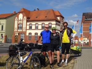 With Wilhelm, whom we rode with for awhile.