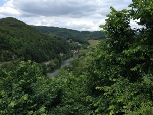 View from an Abbey on the way to Bad Ems.  The climb up had a 16% grade!