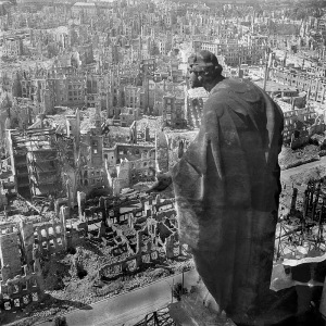 A famous and iconic photo of Dresden in 1945 after the bombing.