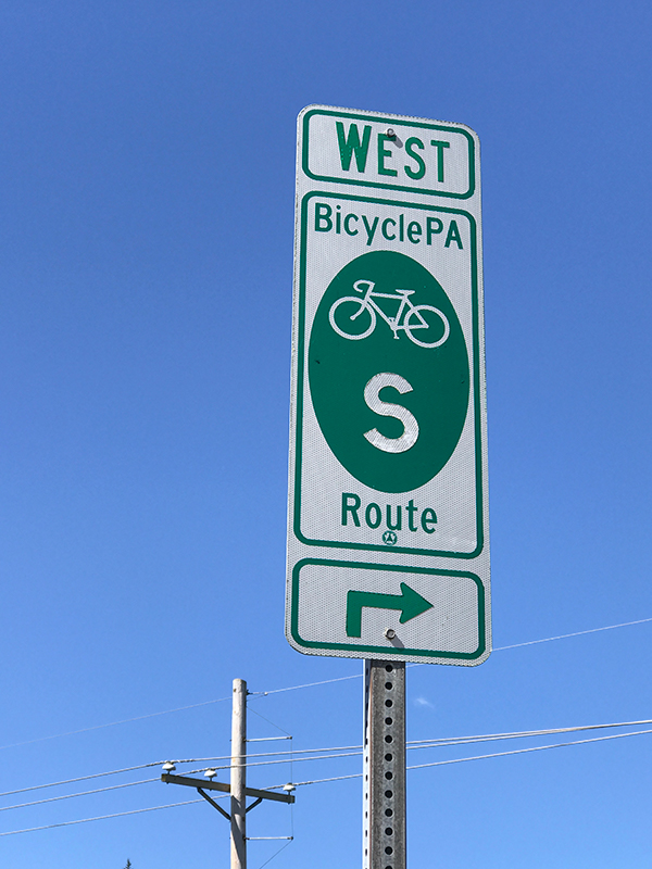 PA Bicycle Route Sign