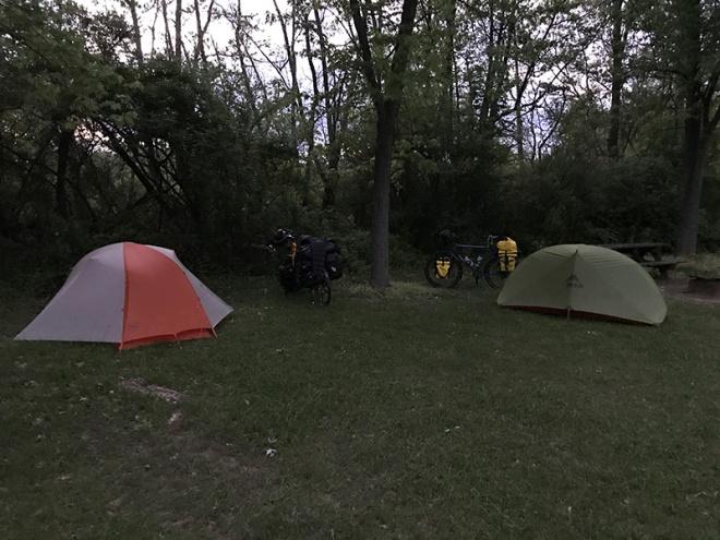 Tents & Bike - Spring Garden PA
